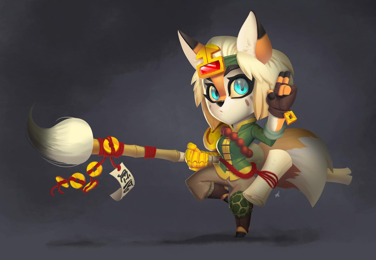 Fox monk render.