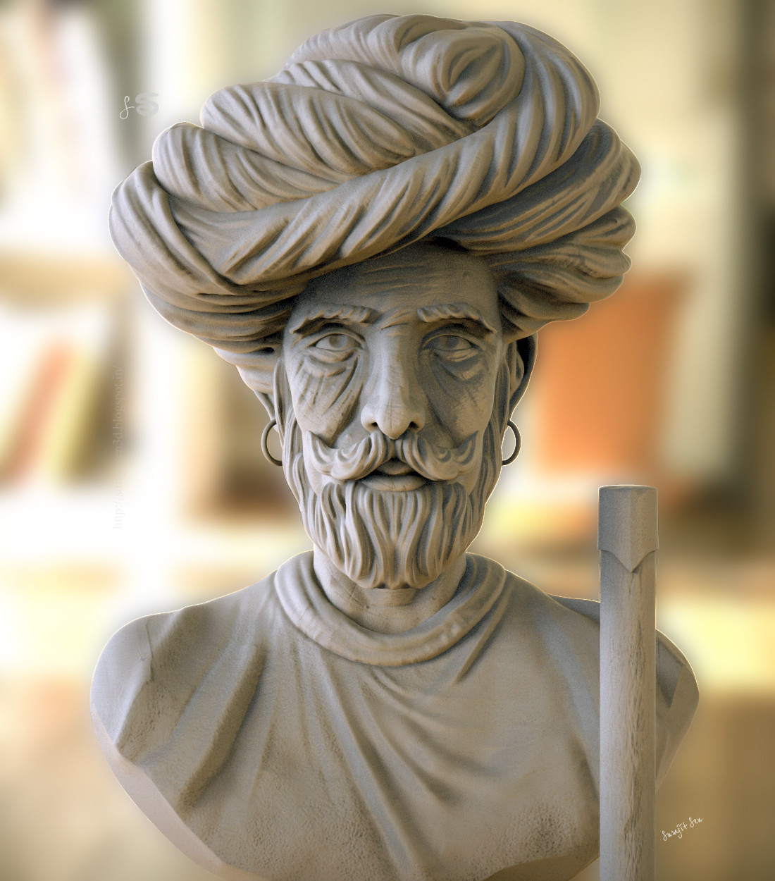 #speedsculpt #study   One of my old Speed sculpt study ....Indian Man! ...Wish to share :)