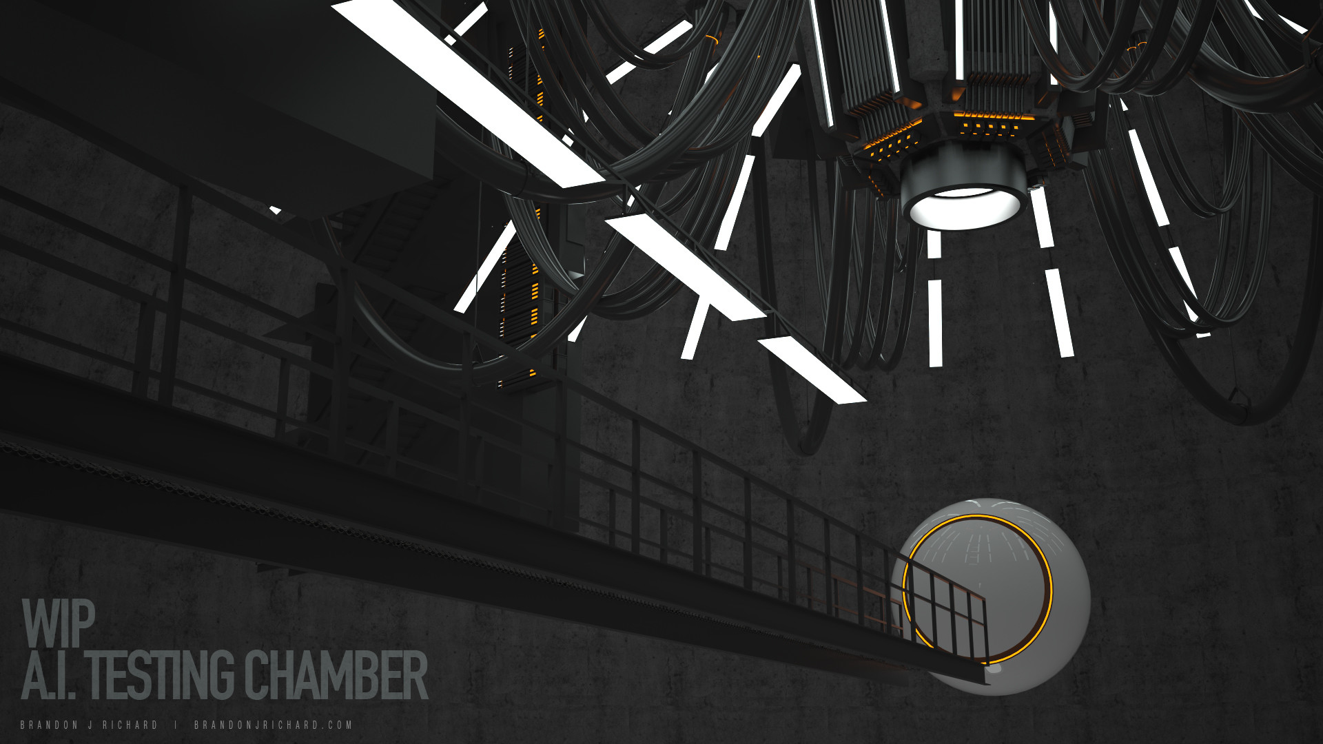 Brandon j richard ai test chamber 001 scene 1 wip raw render