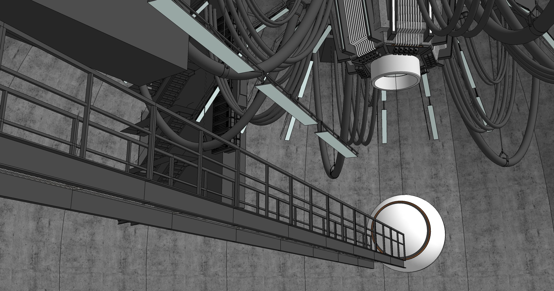 Raw SketchUp view... pretty ugly.