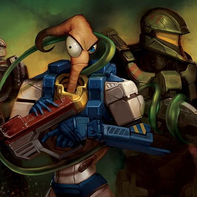 Colin foran earthworm jim spartans colin foran press start continue ltd art gallery