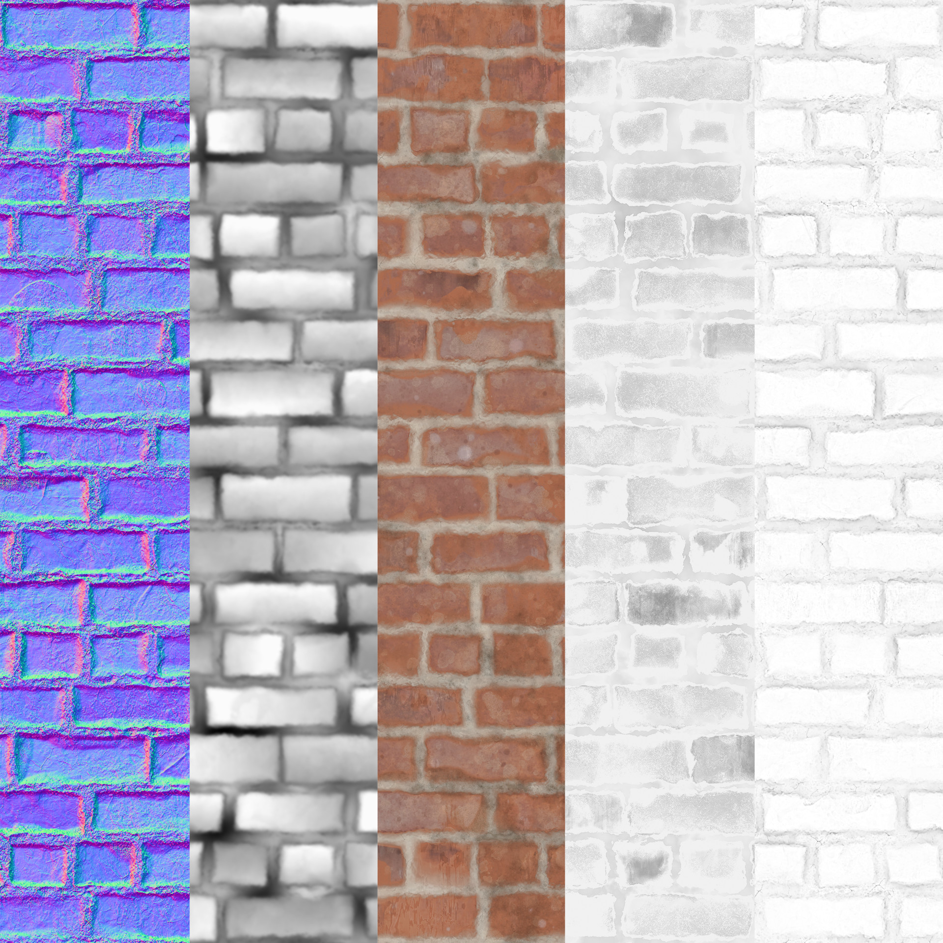 Alina godfrey bricks normal rough albedo textures