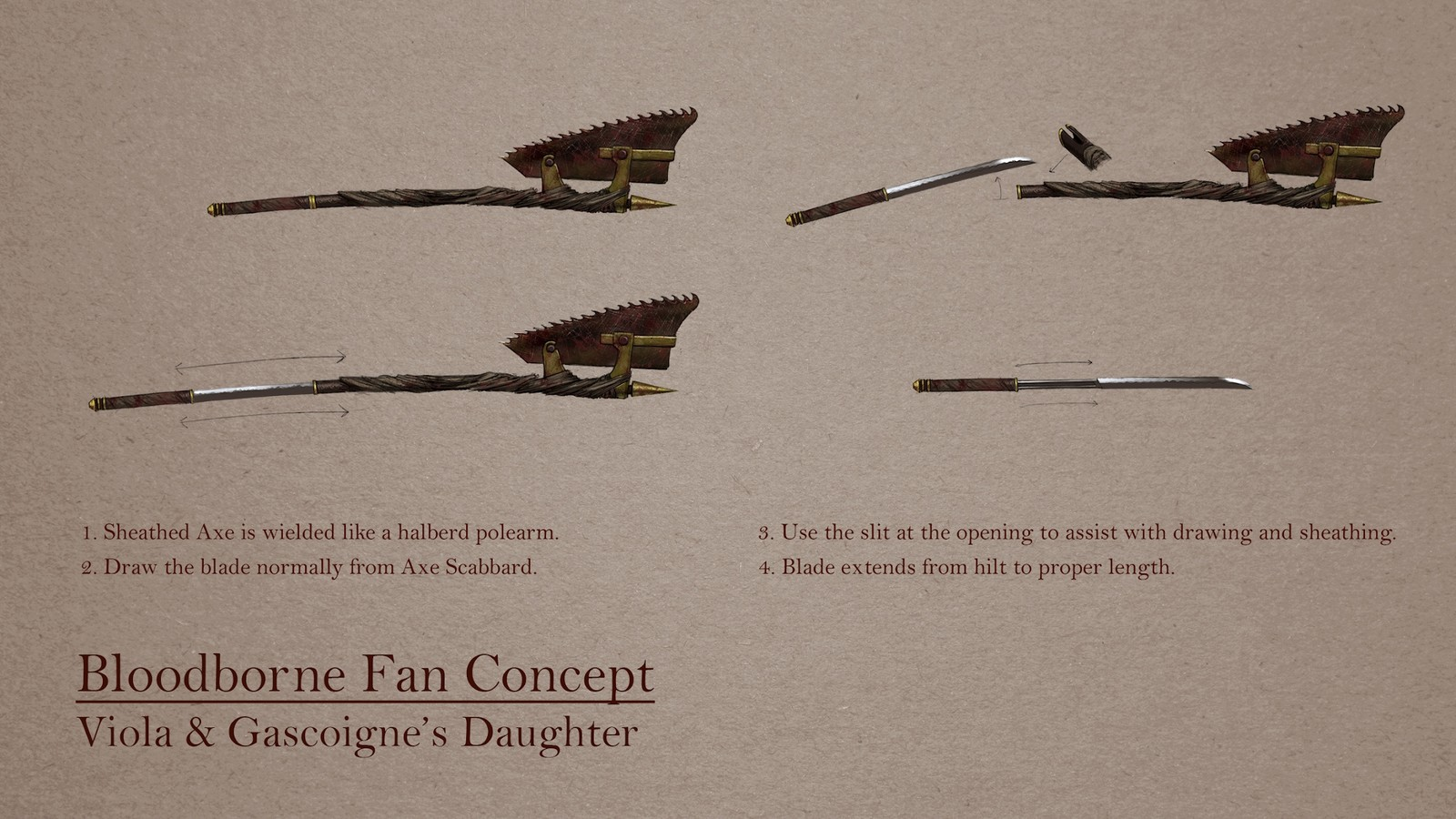 Bloodborne Fan Concept: Viola & Gascoigne's Daughter