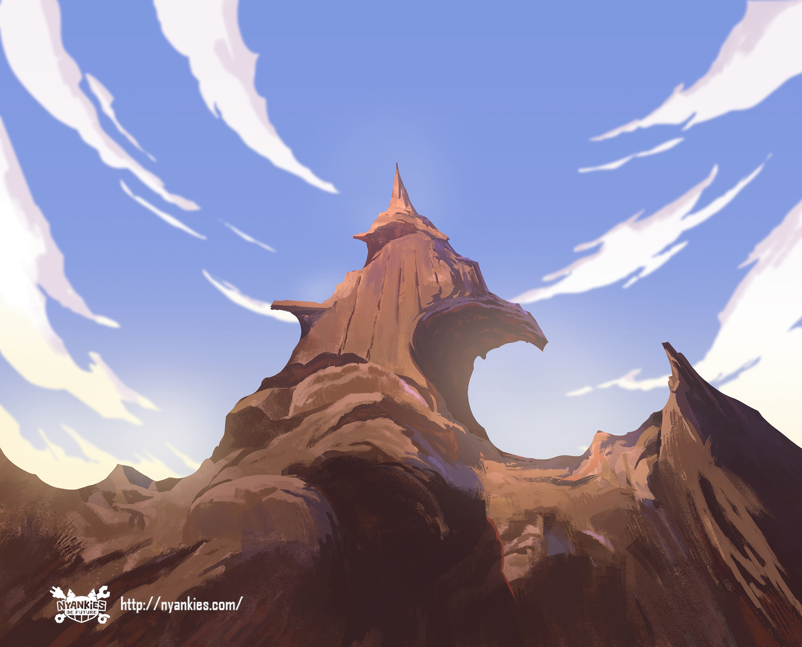 """Nyankies de Future"" Animation backgrounds Painting"