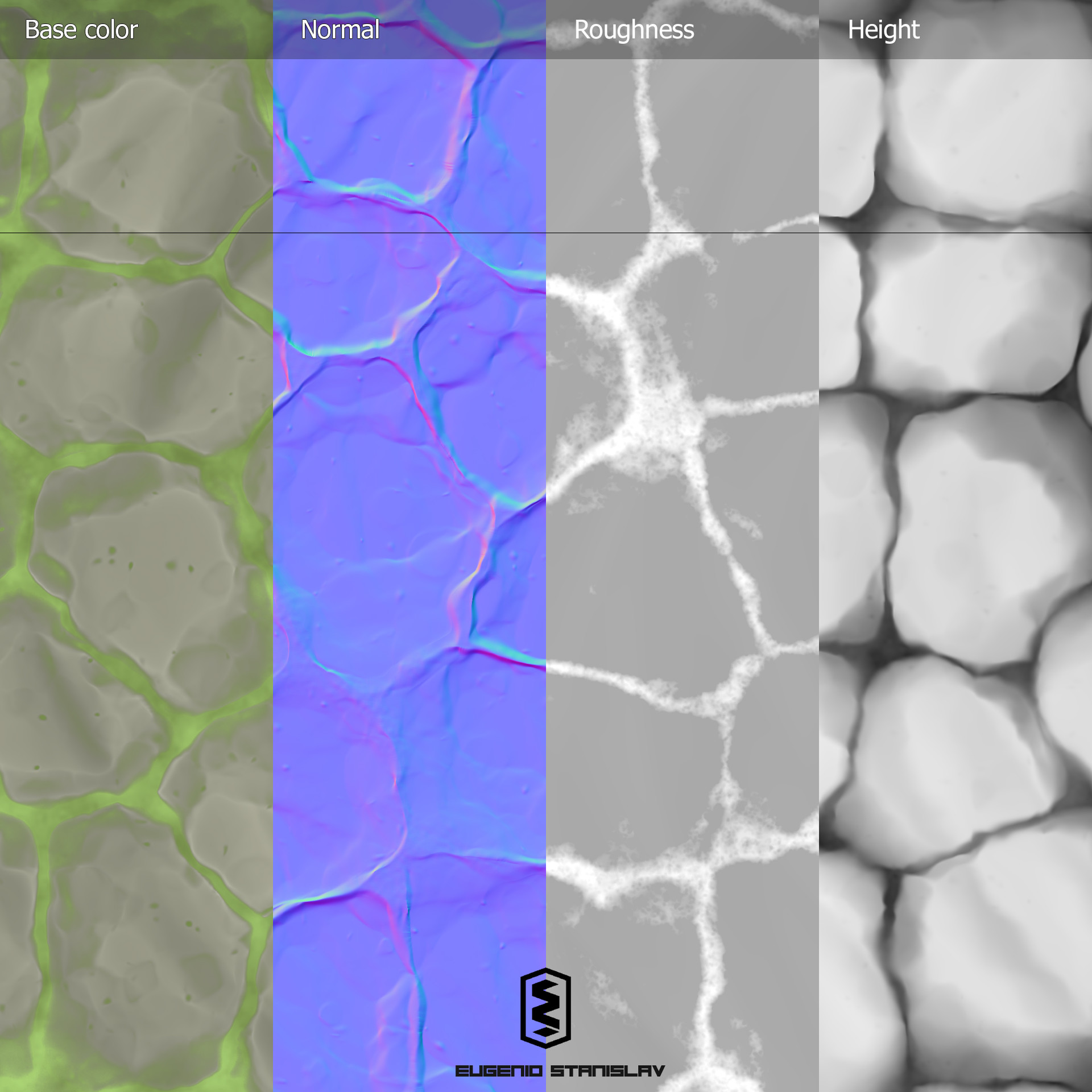 Eugenio stanislav stylized stone floor maps