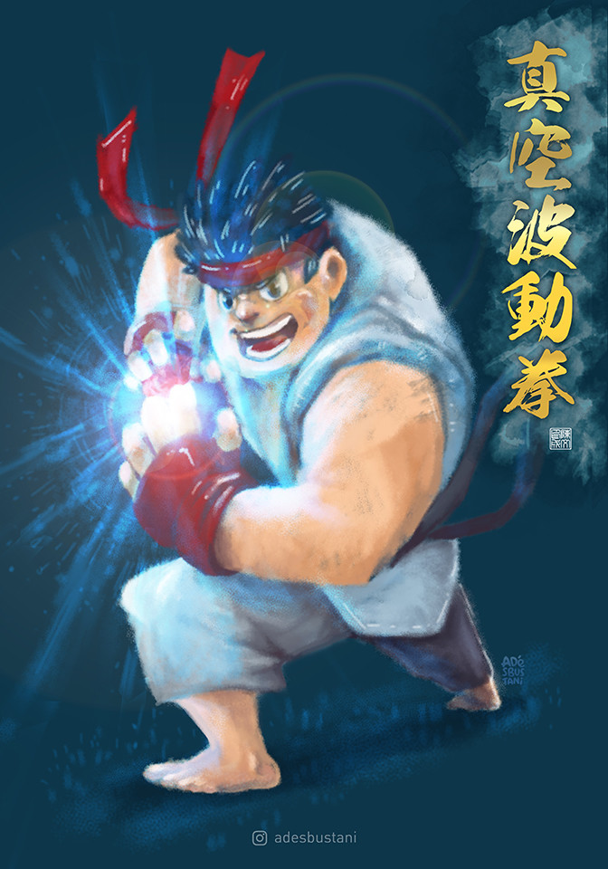 ArtStation - Ryu - Shinku Hadouken, Ade S  Bustani