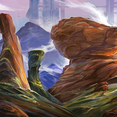 Josiah herman rock landscape