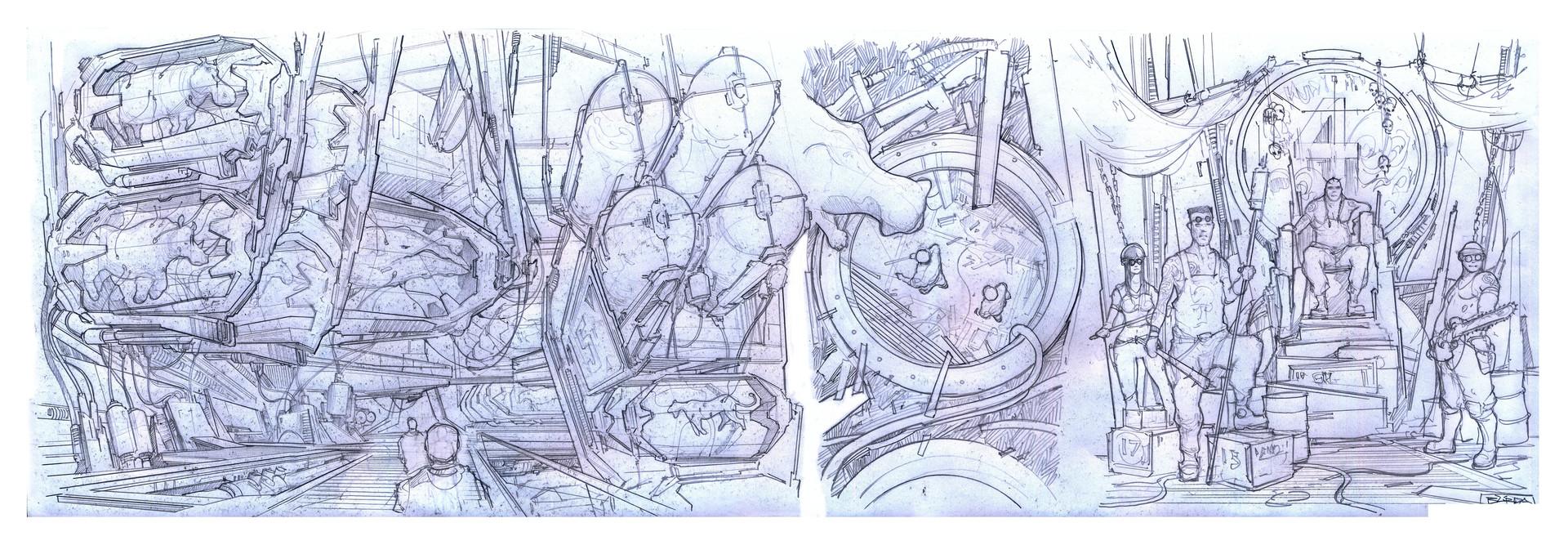 Alejandro burdisio bocetos exile sectores varios 4