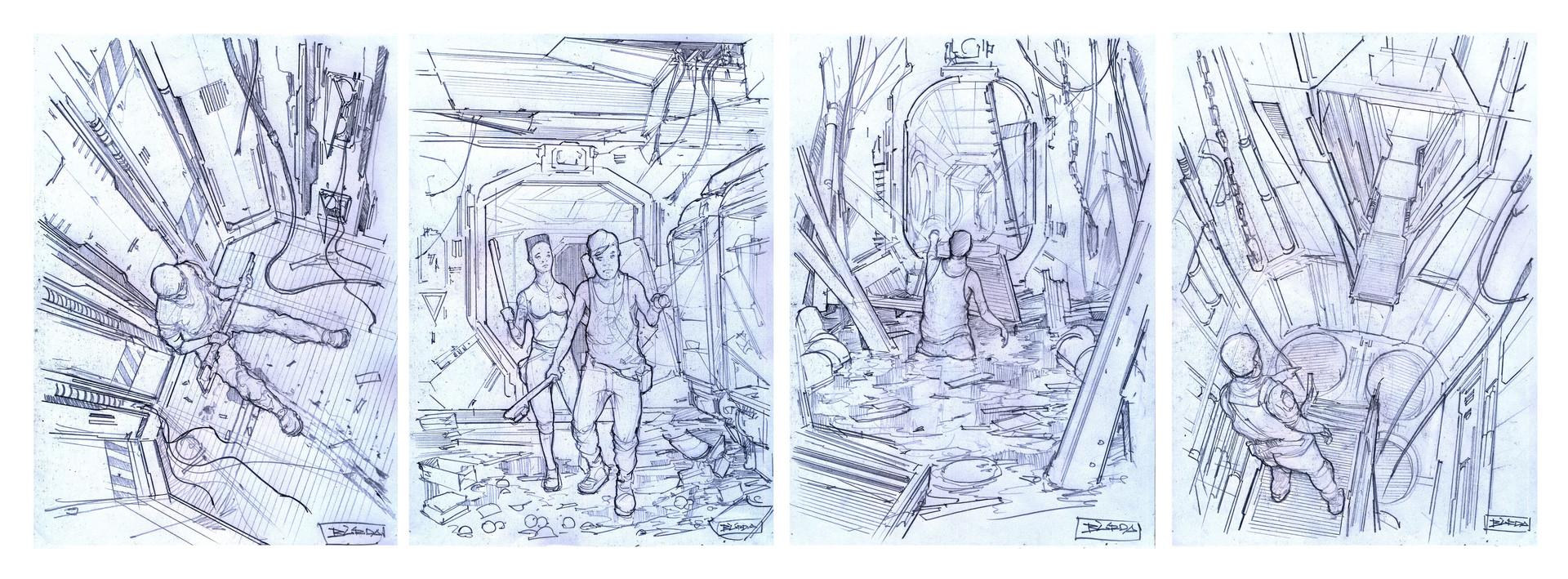 Alejandro burdisio bocetos varios exile1