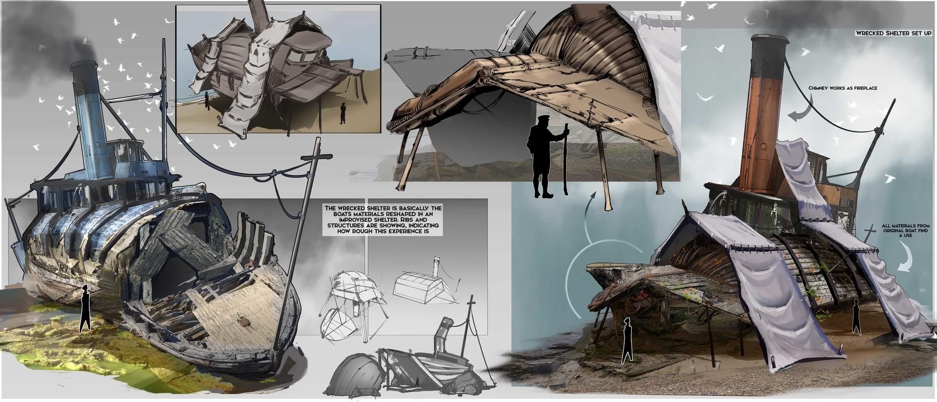 Imagini pentru Improvised Boat Shelter
