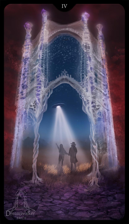Four of wands ~ Dreamwalker tarot