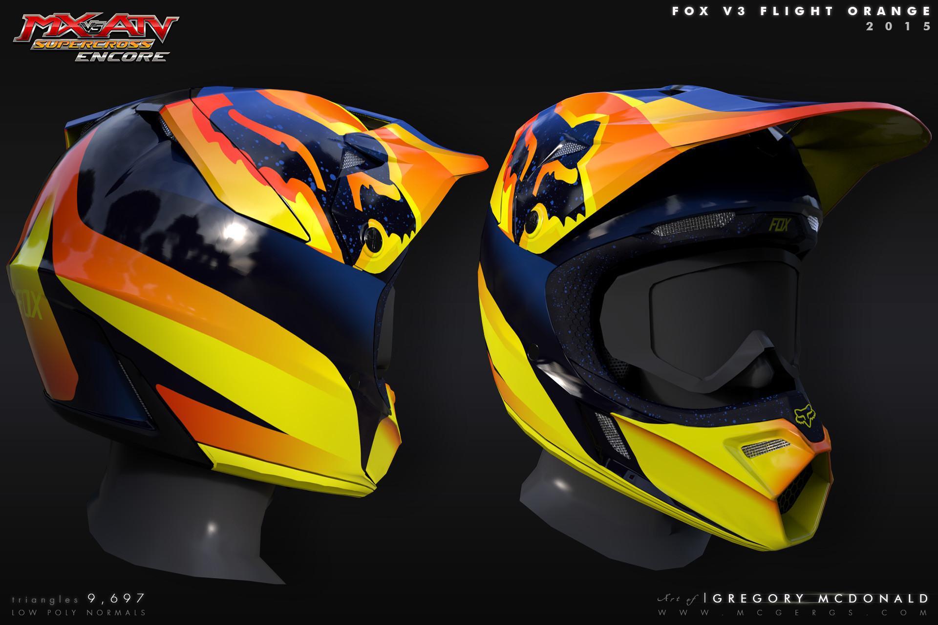 39fe38b2 ArtStation - FOX RACING V3 Helmet 2015 | MX vs ATV Supercross Encore ...