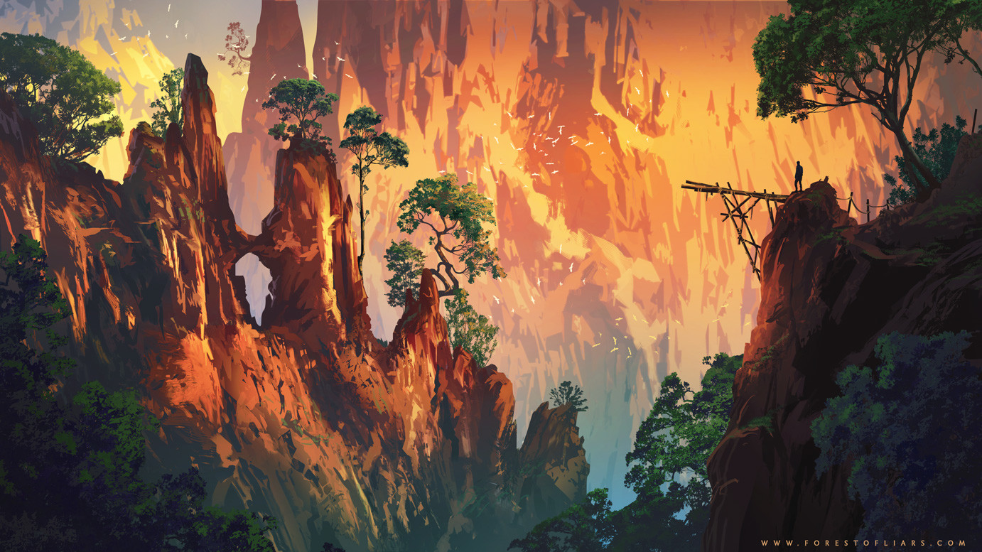 Forest of Liars : the birds cliff