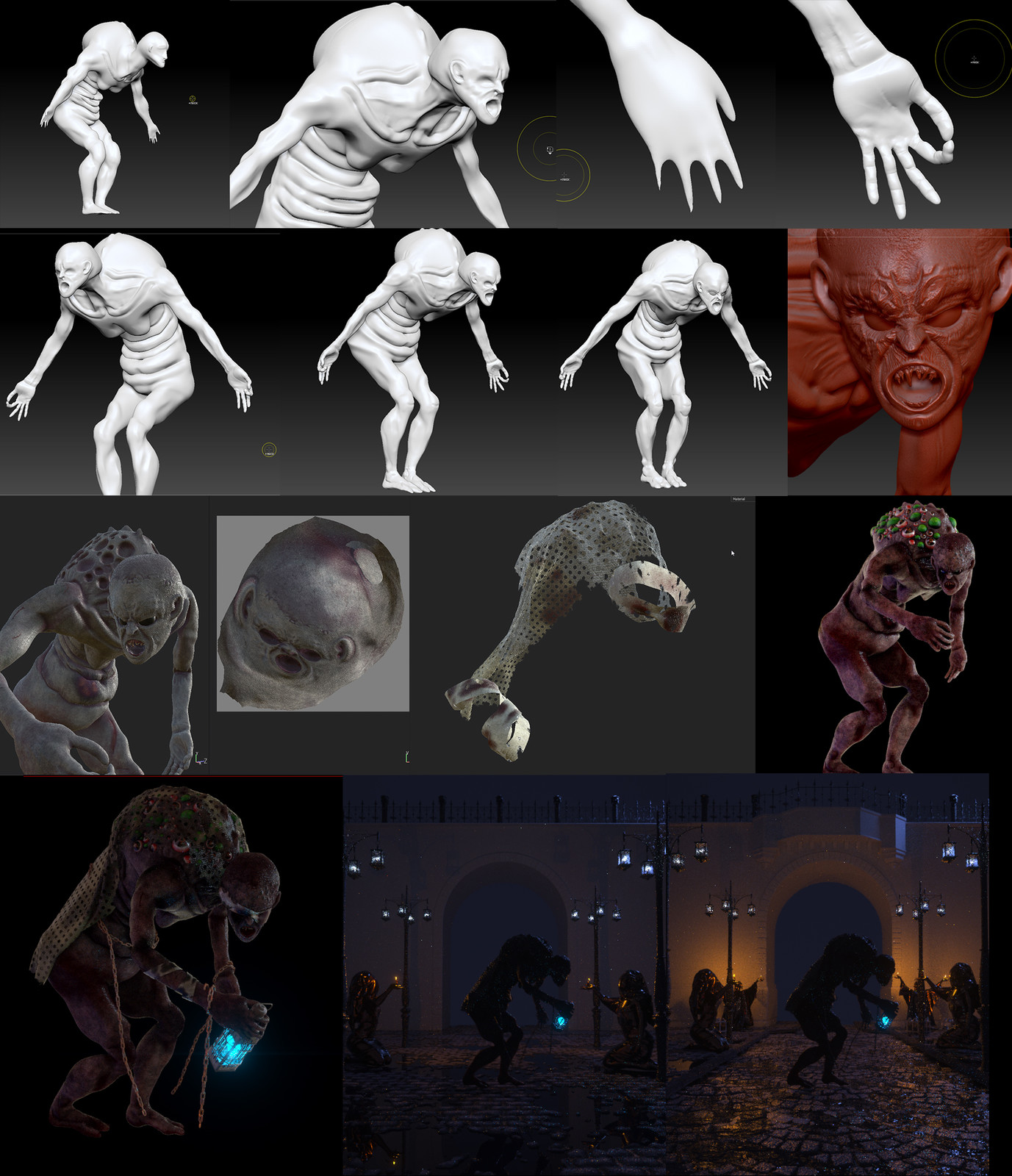 Process of creating the monster and the environment