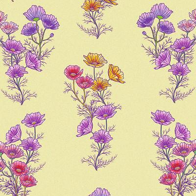 Zoe bergeret motifs fleurs cosmos v2