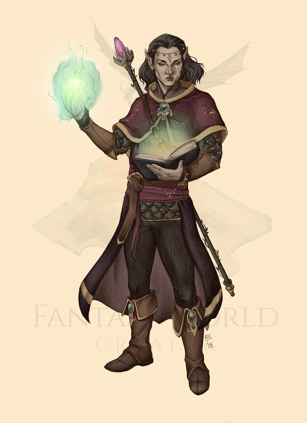 Elisa serio elfo mago