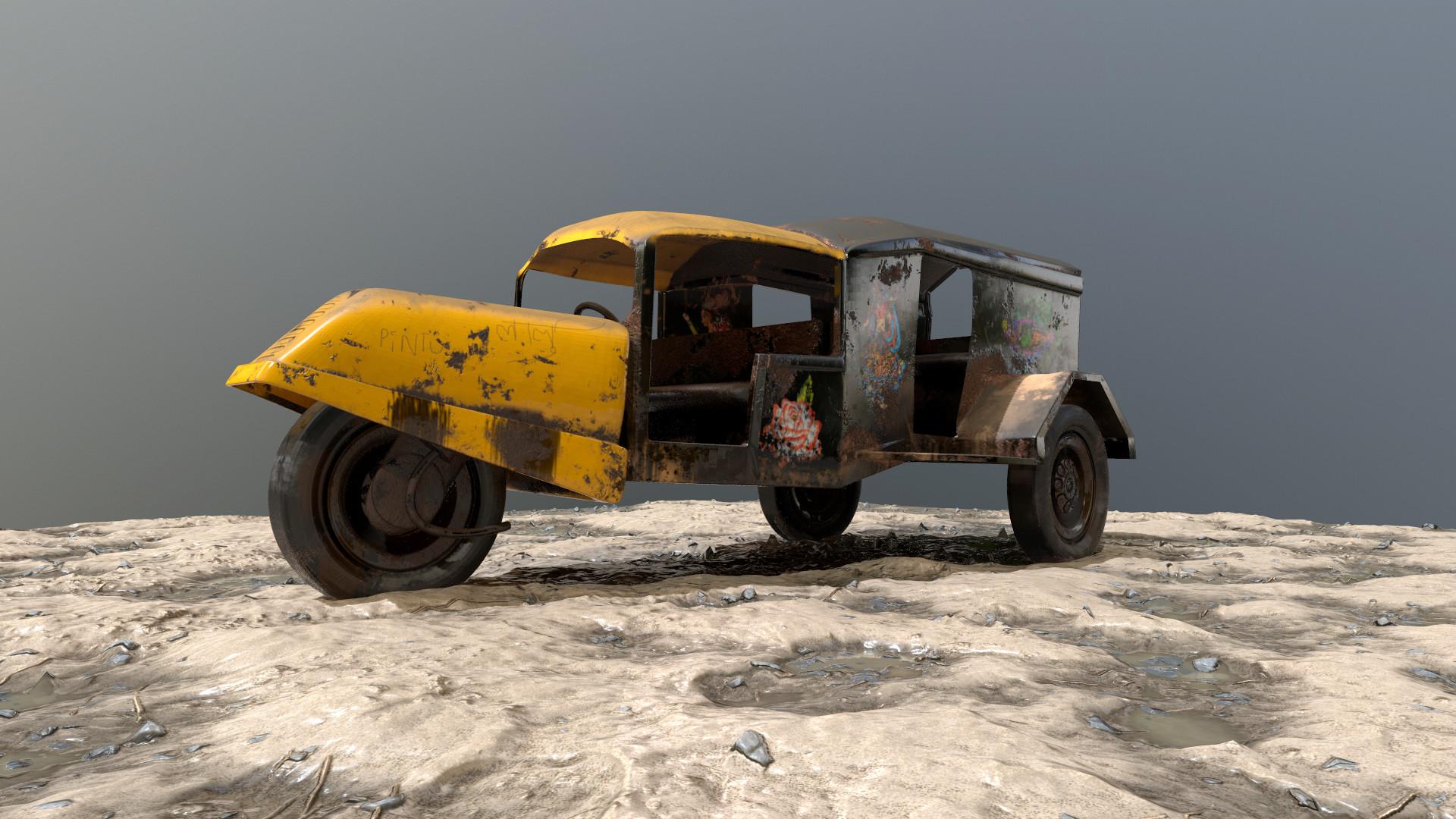 Artstation 3d Indian Old Vehicle 3 Wheeler 3d Auto 3d