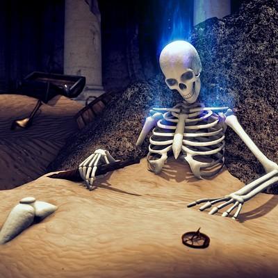 Jonathan leiter scaleandbone resting skeleton final artstation 01b