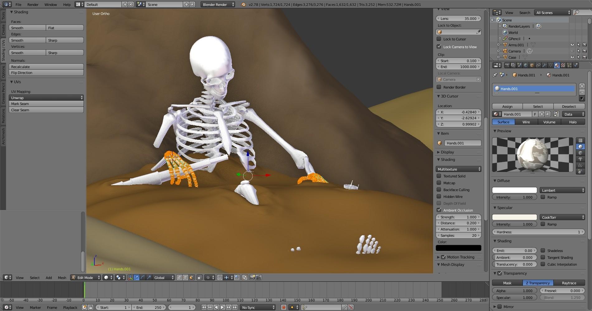 ArtStation - Scale & Bone - Resting Skeleton TEASER Poster, Jonathan