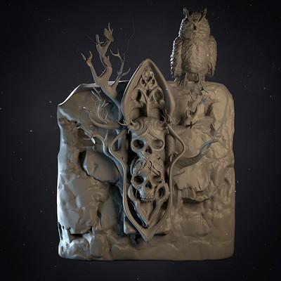 Creepy skull piece