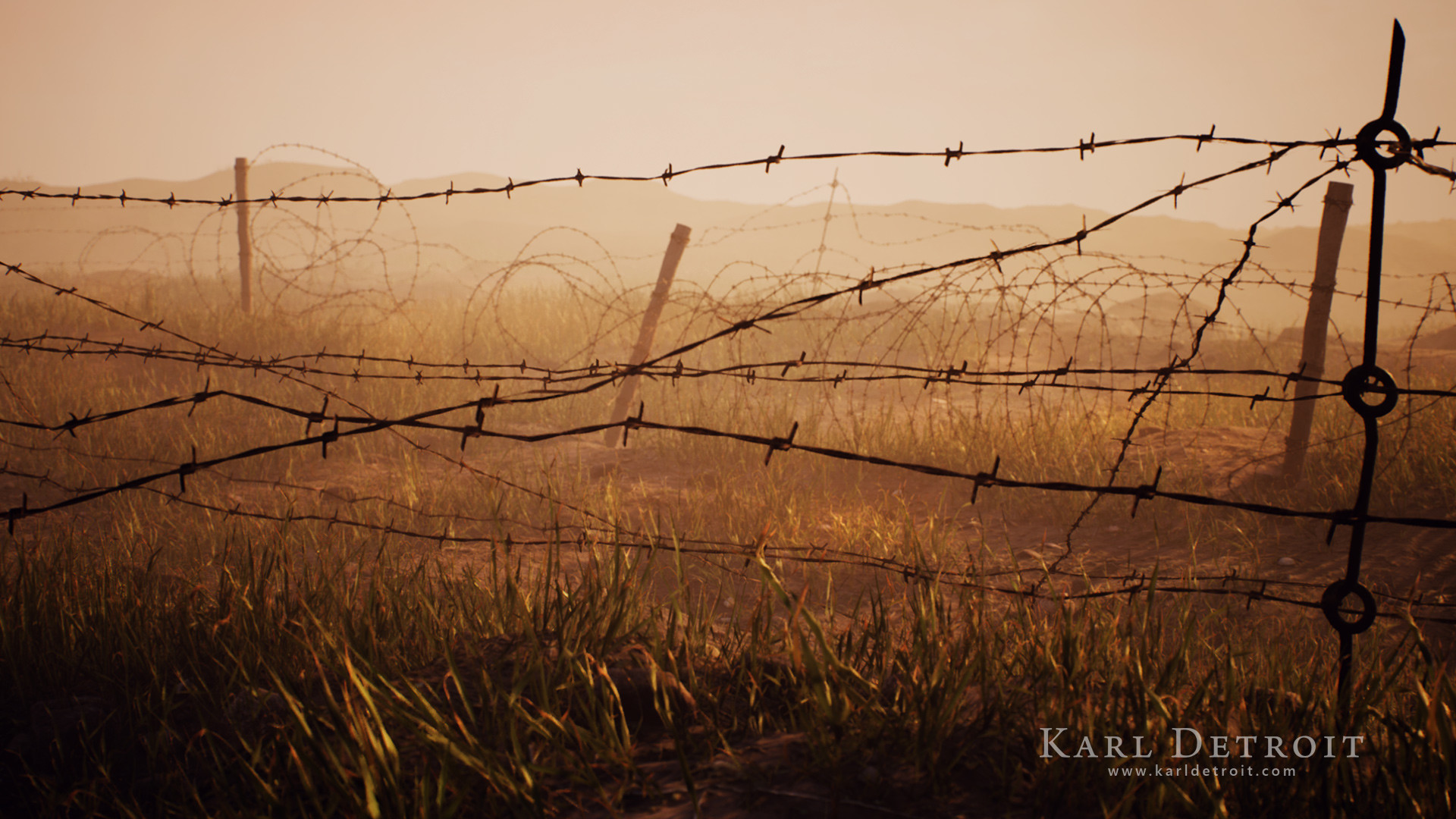 ArtStation - Barbed Wire Spline Tool for UE4, Dennis Öztürk