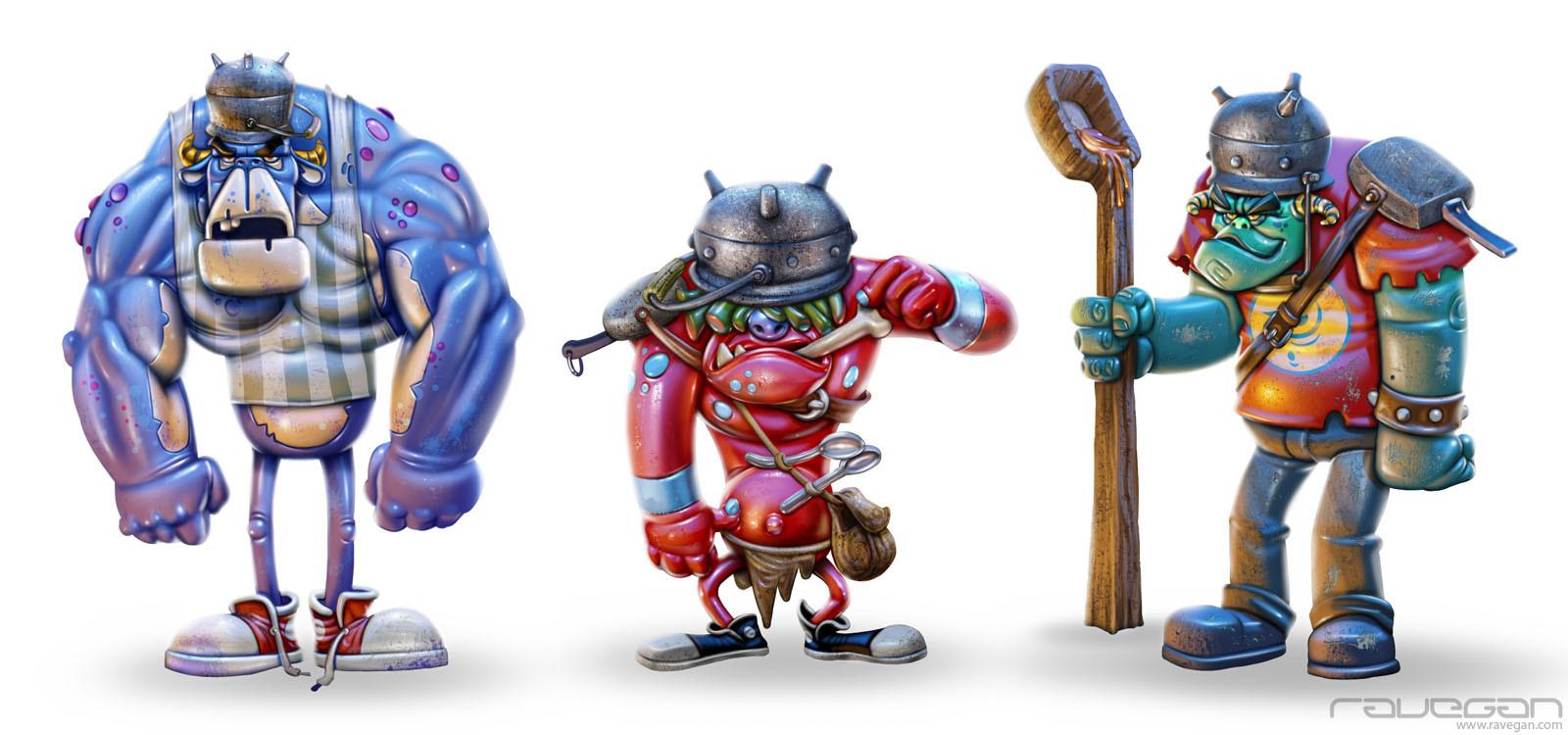 Ravegan games ogres concepts