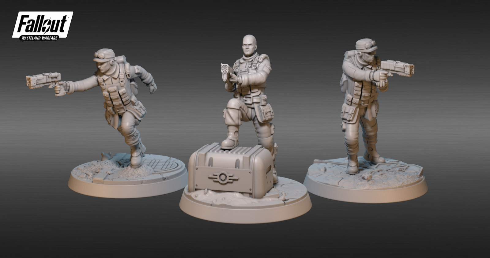 Brotherhood of Steel Cade and Field Scribes - Fallout: Wasteland Warfare