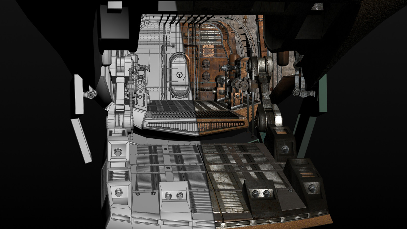 Design and modeling/surfacing of Nautilus cargo bay.