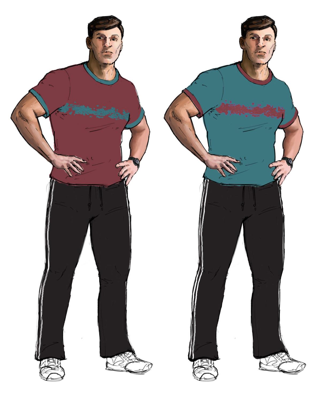 Jeff zugale sop bg gym male tshirt pants1