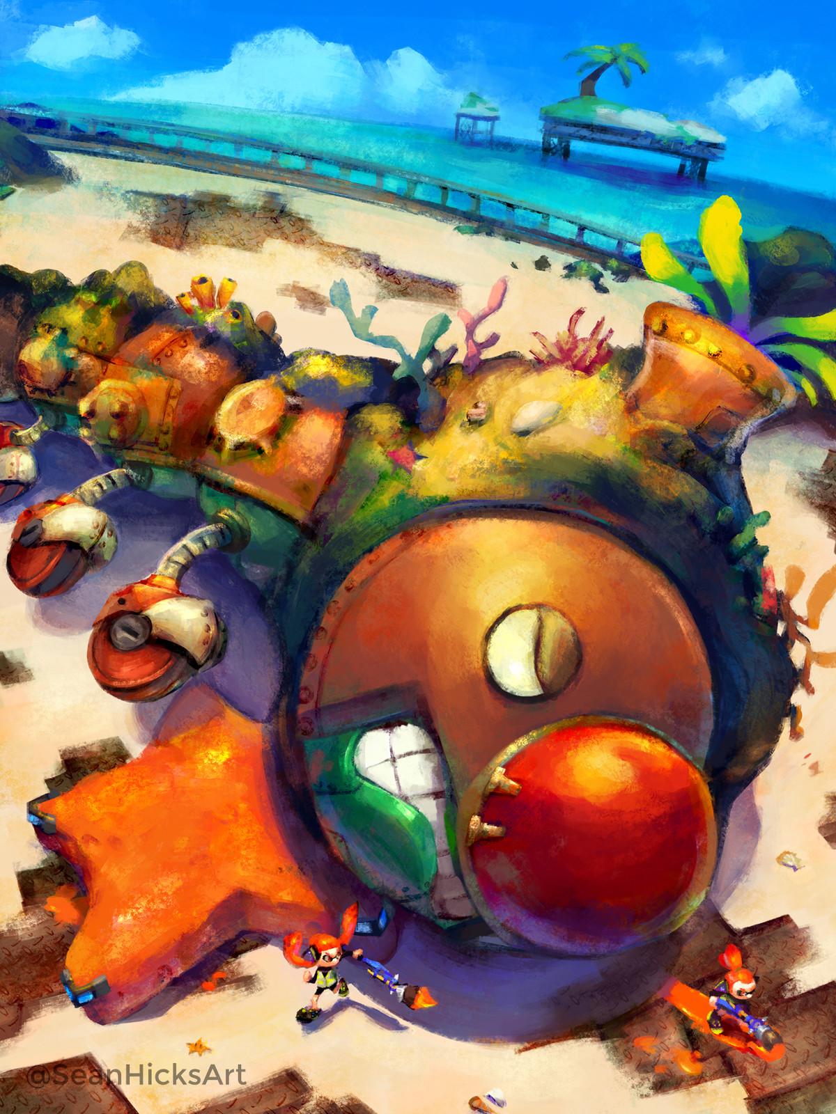 Artstation Super Mario Sunshine X Splatoon Crossover Part 2