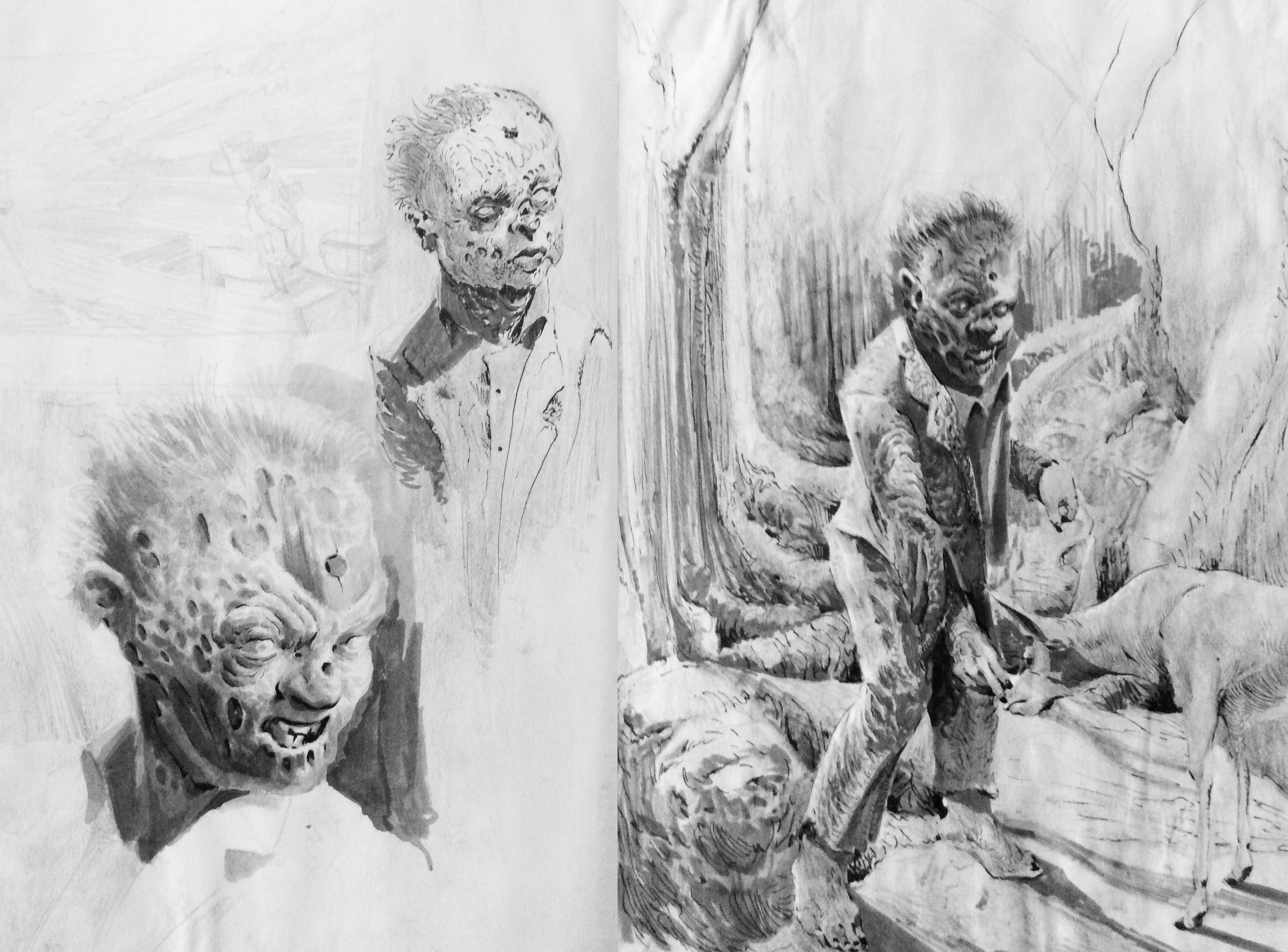 Zombie002 Sketchbook Roughs