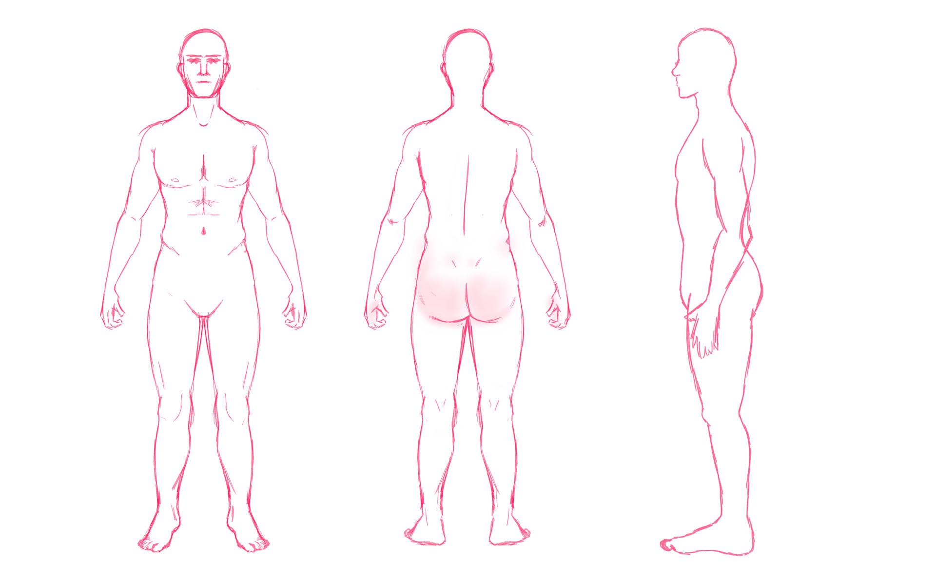 Anatomy Sketch (Nice Butt)