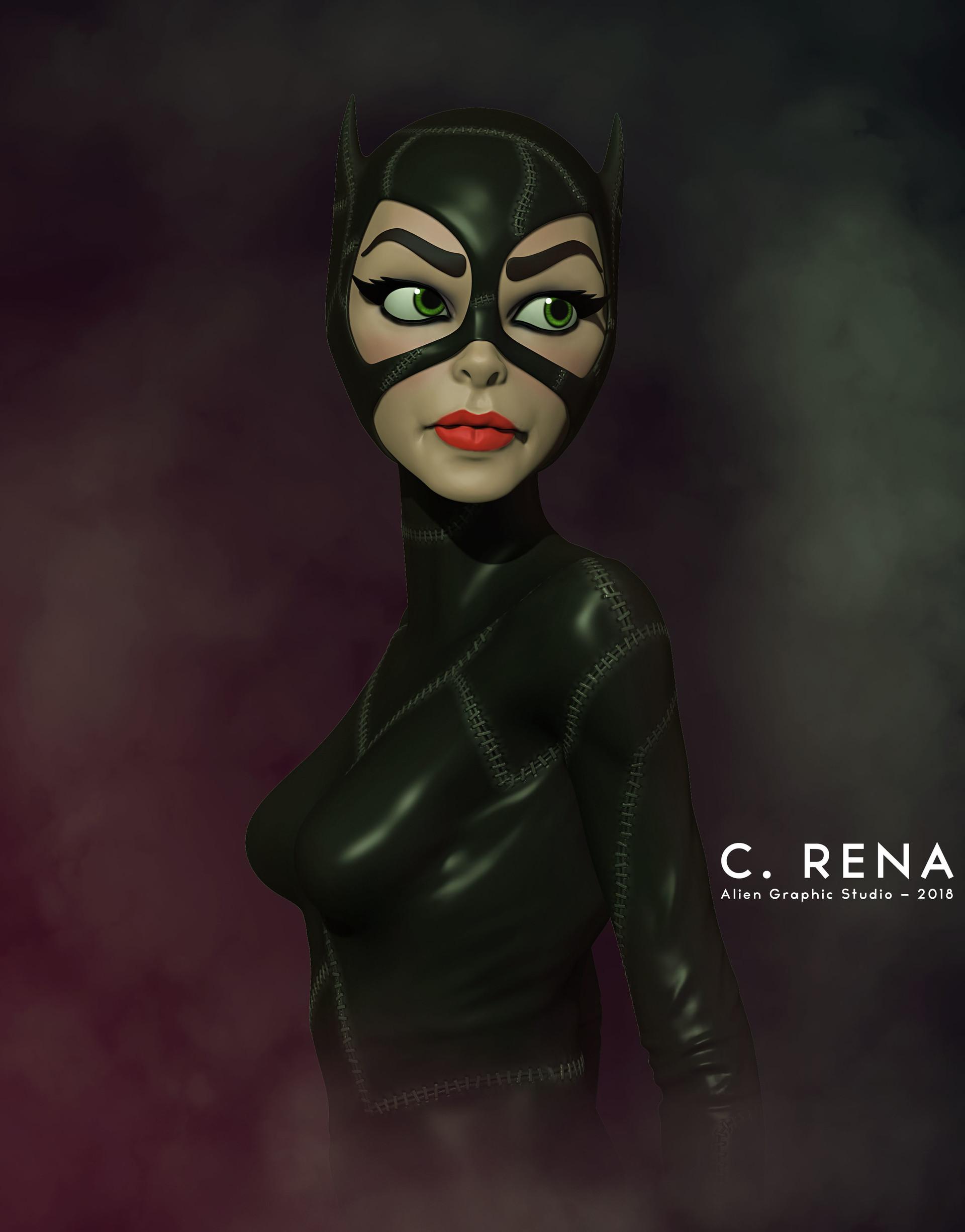 Chris rena catwoman illustration cinefilter