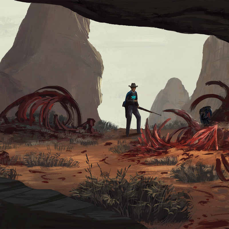 "Art Station Wild West Challenge - Keyframe Concepts 2/4 ""Feeding Pit"""