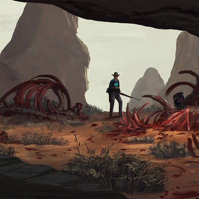 "Art Station Wild West Challenge - Keyframe Concepts 2/4 ""Feeding Pit"""