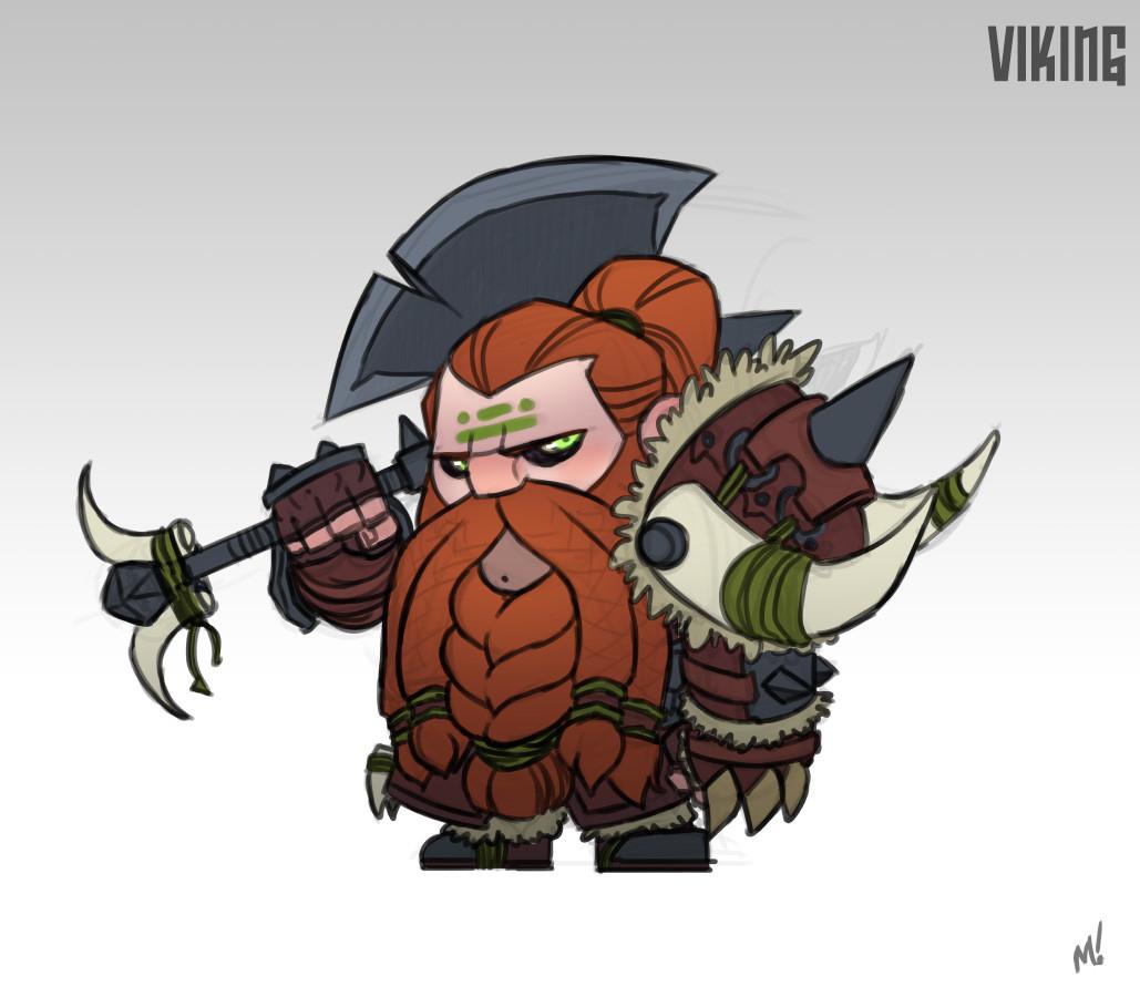 Viking badass.