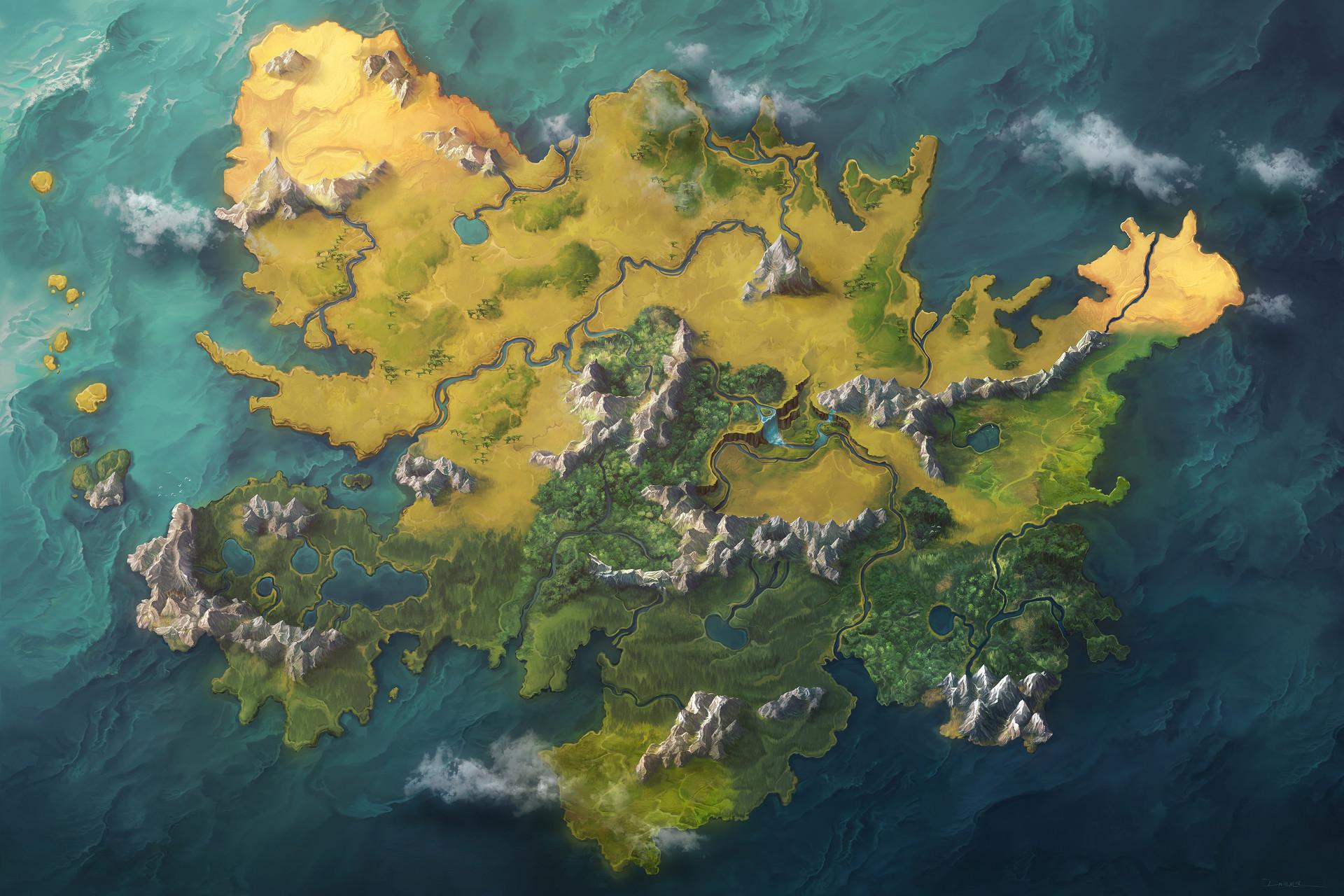Damien mammoliti dunia map nomarkers