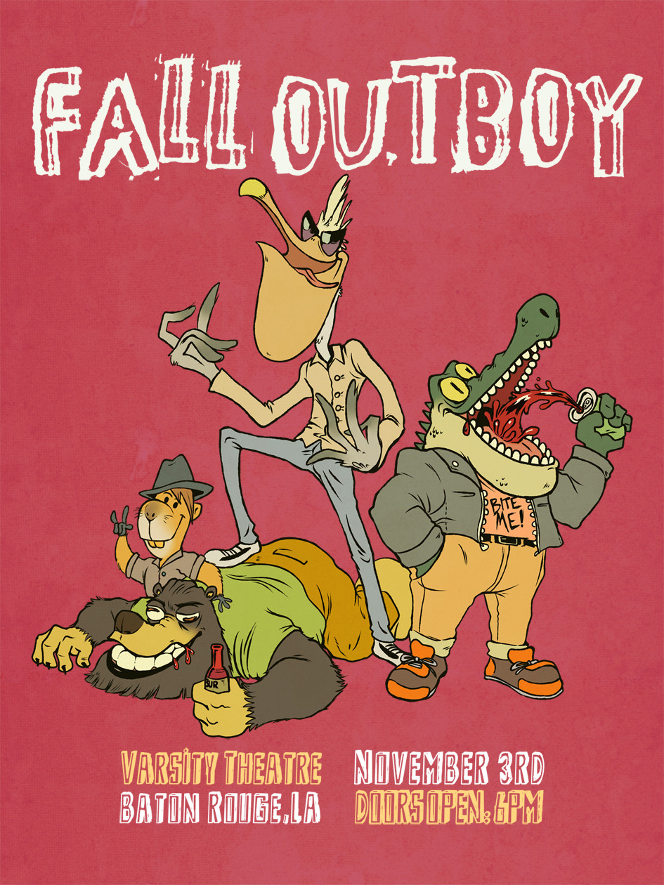 Sean hicks fallout boy poster