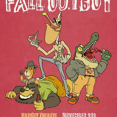 Fall Out Boy - Gig Poster (SCAD Course Assignment)
