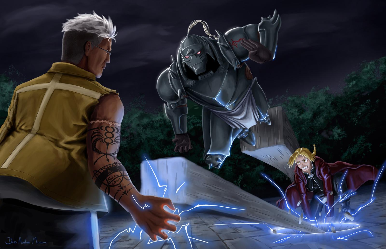 Full metal alchemist fight vs Scar