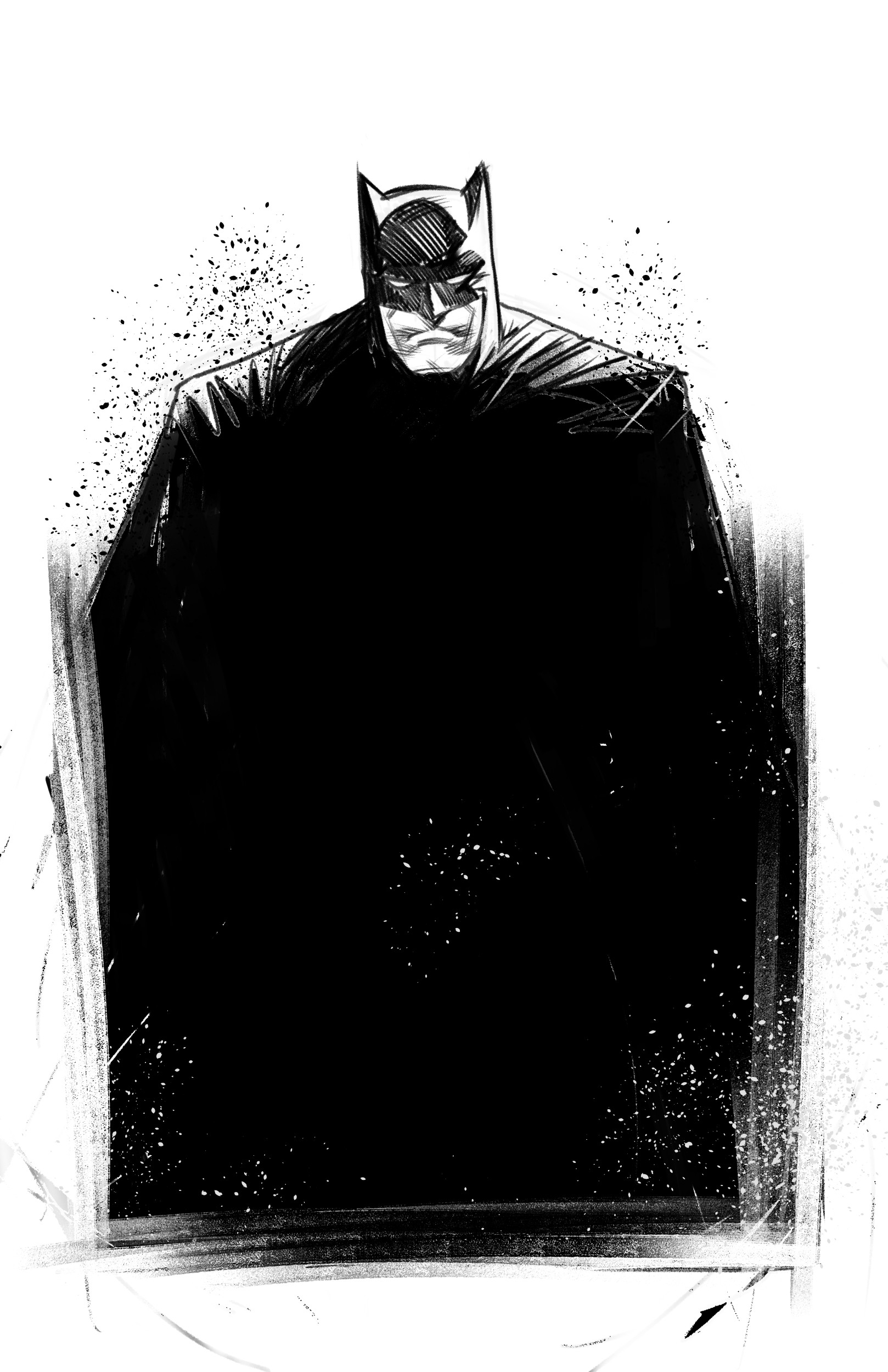 Work in Progress - Layout for Batman (digital pencil)