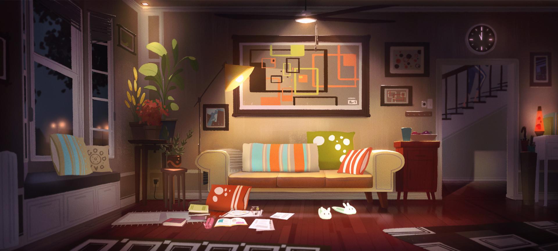 Artstation Living Room Mood Lighting Aeron Ng