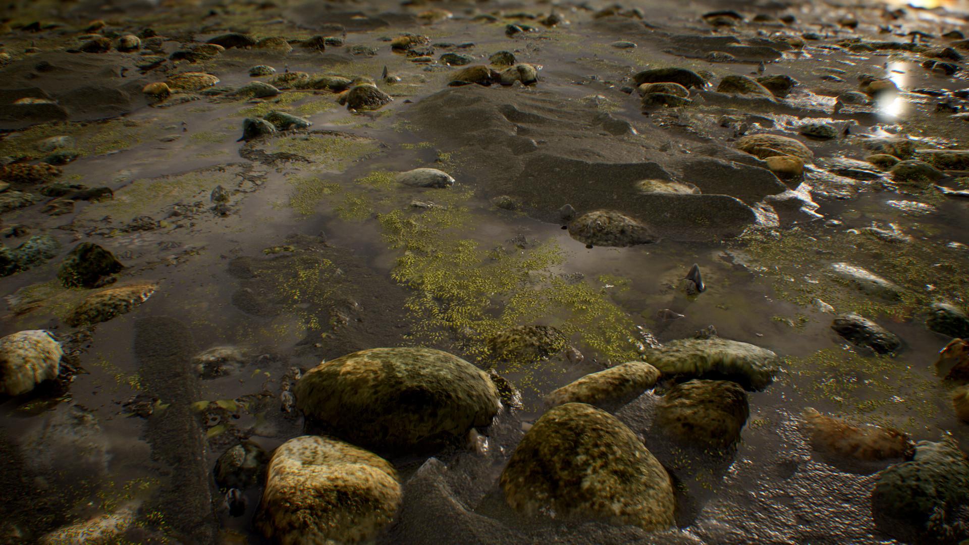Hugh trombley riverbed scene