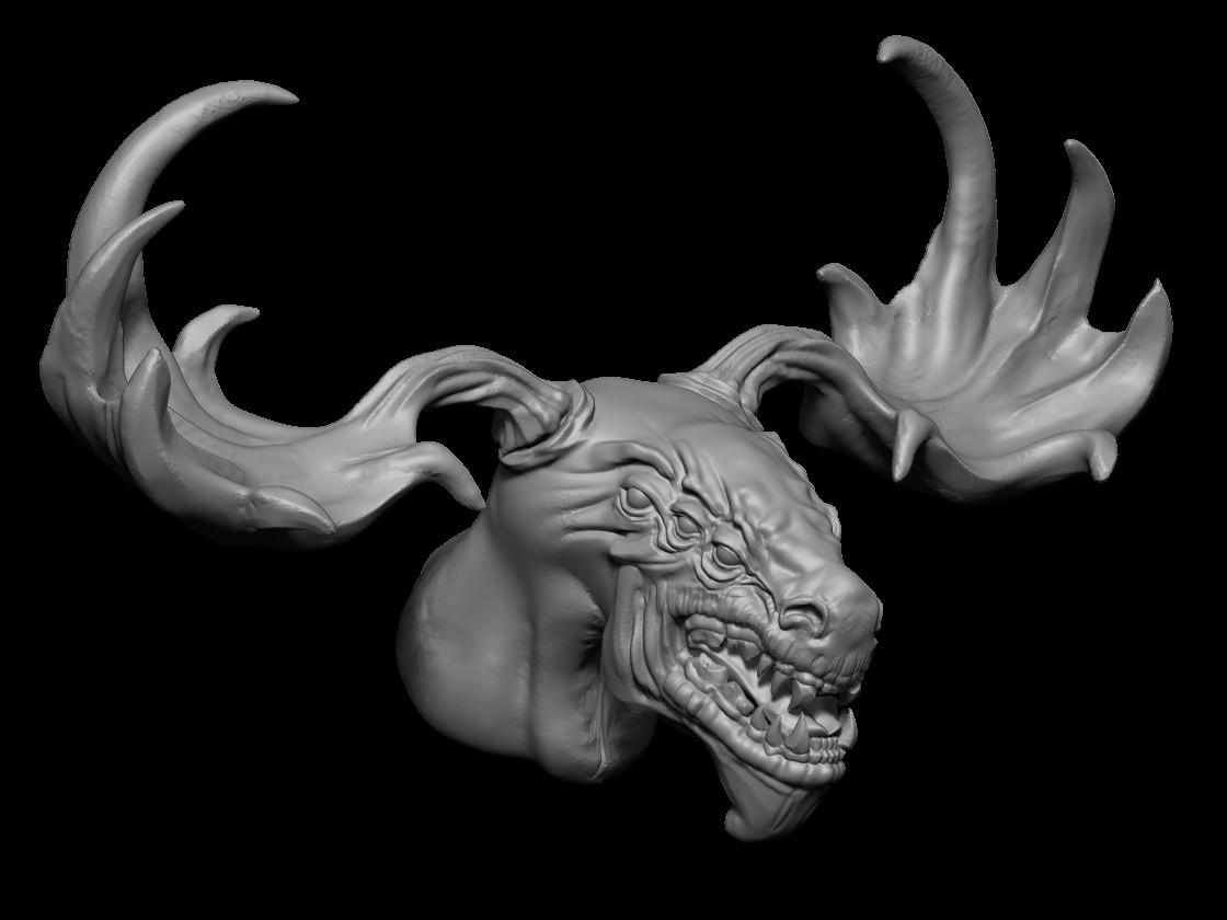In symmetry mode create the head.