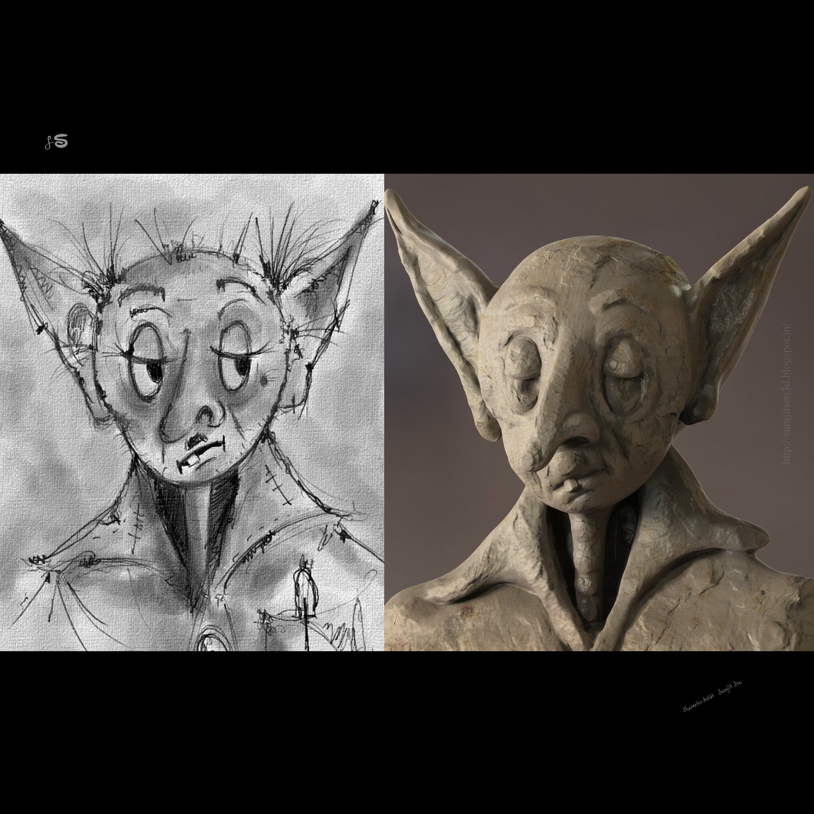 #Doodle Prof.Chintamoni. .....:) in basic sculpted form , is taken from my Rough sketch book...inspired by amazing visualizer #sukumarroy and one and only #satyajitroy .... just played with brushes...;)