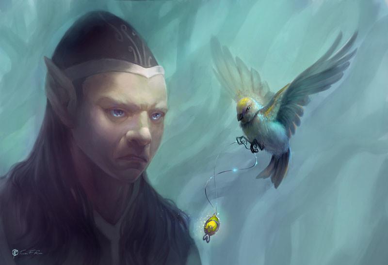 Stolen Gift, Fantasy Illustration.