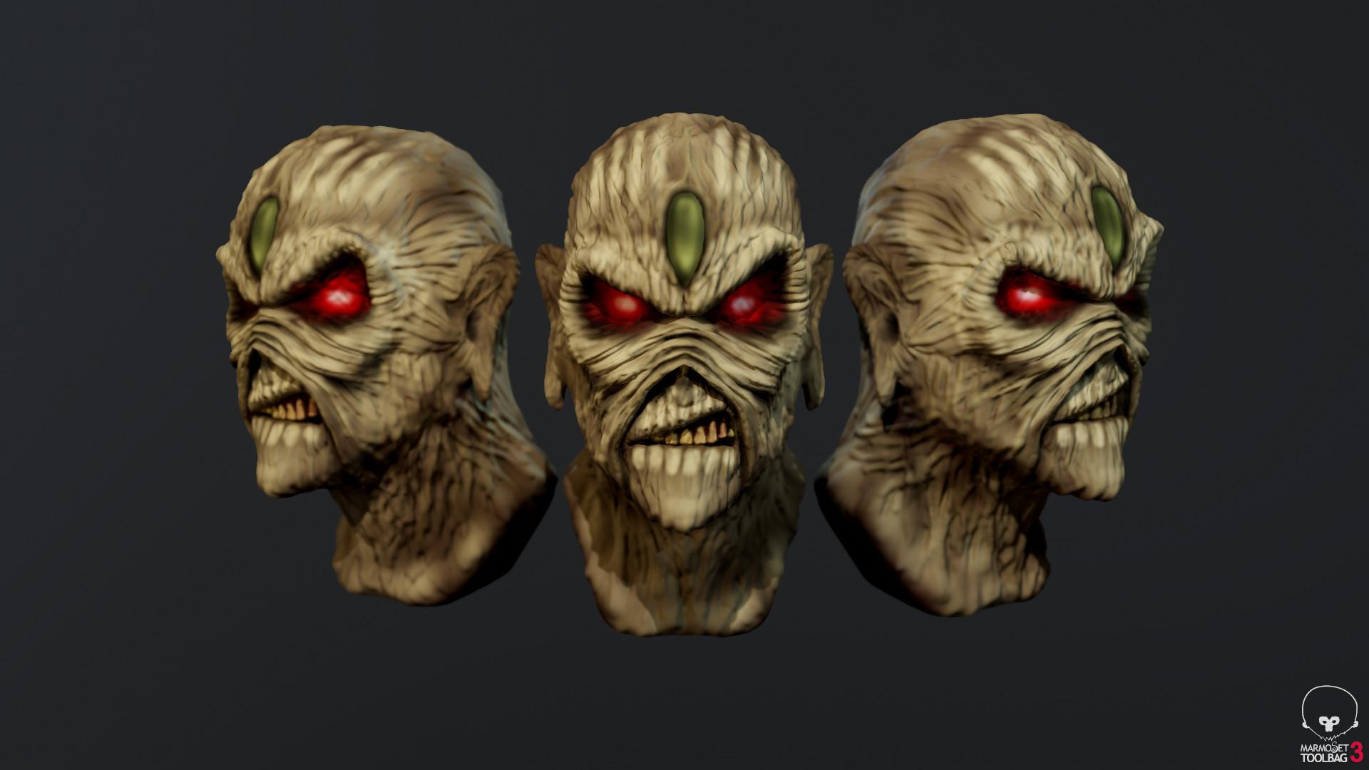 Artstation Sculpt Based On Iron Maidens Eddie Adam Jacks