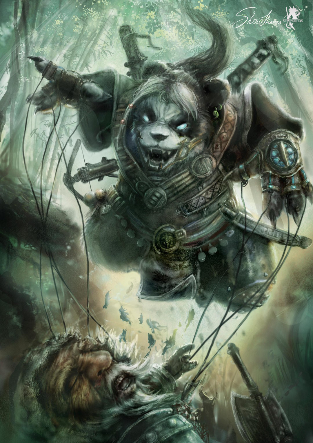 Panda Man fight with Dwarf