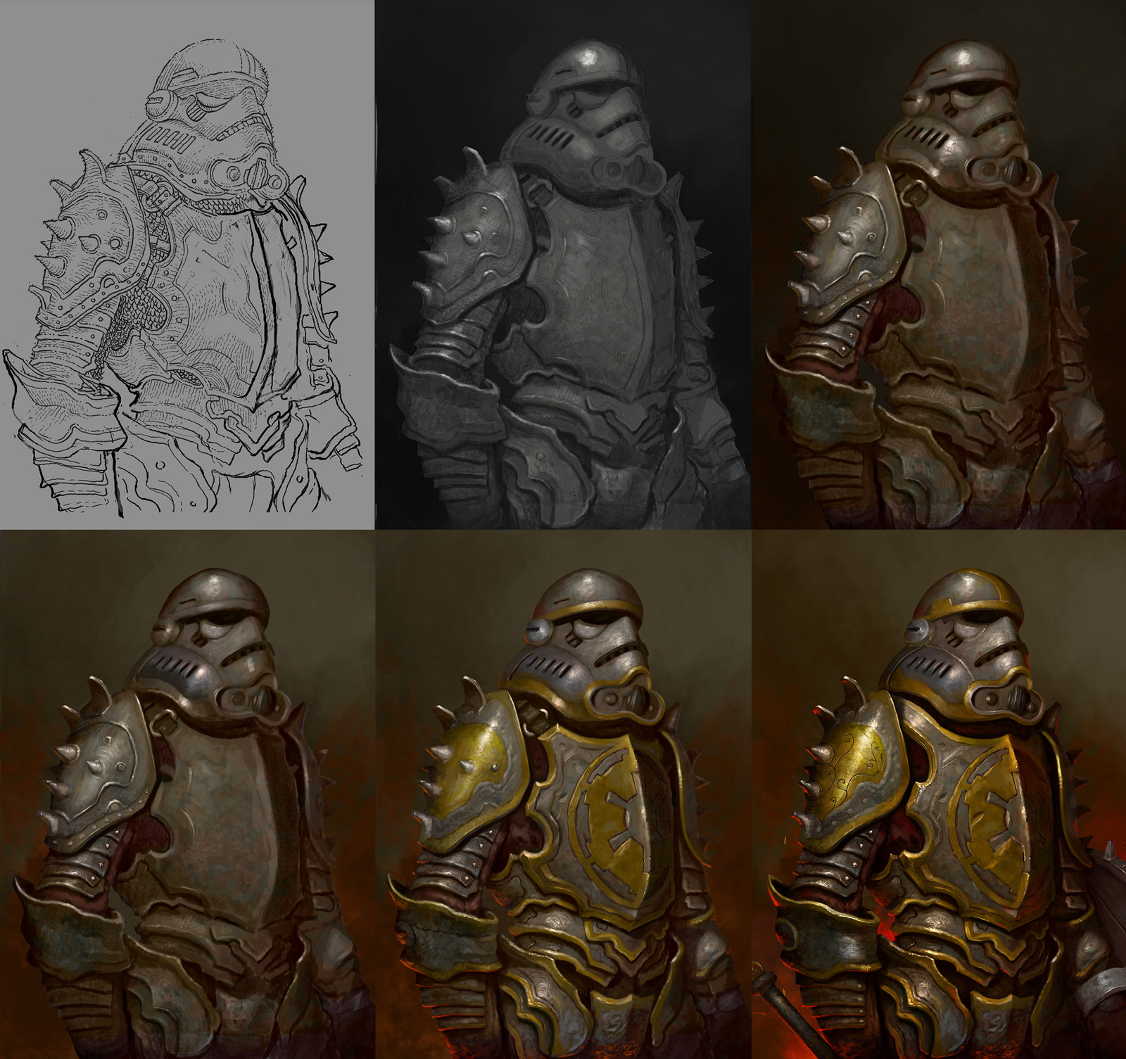 Stormtrooper process breakdown.