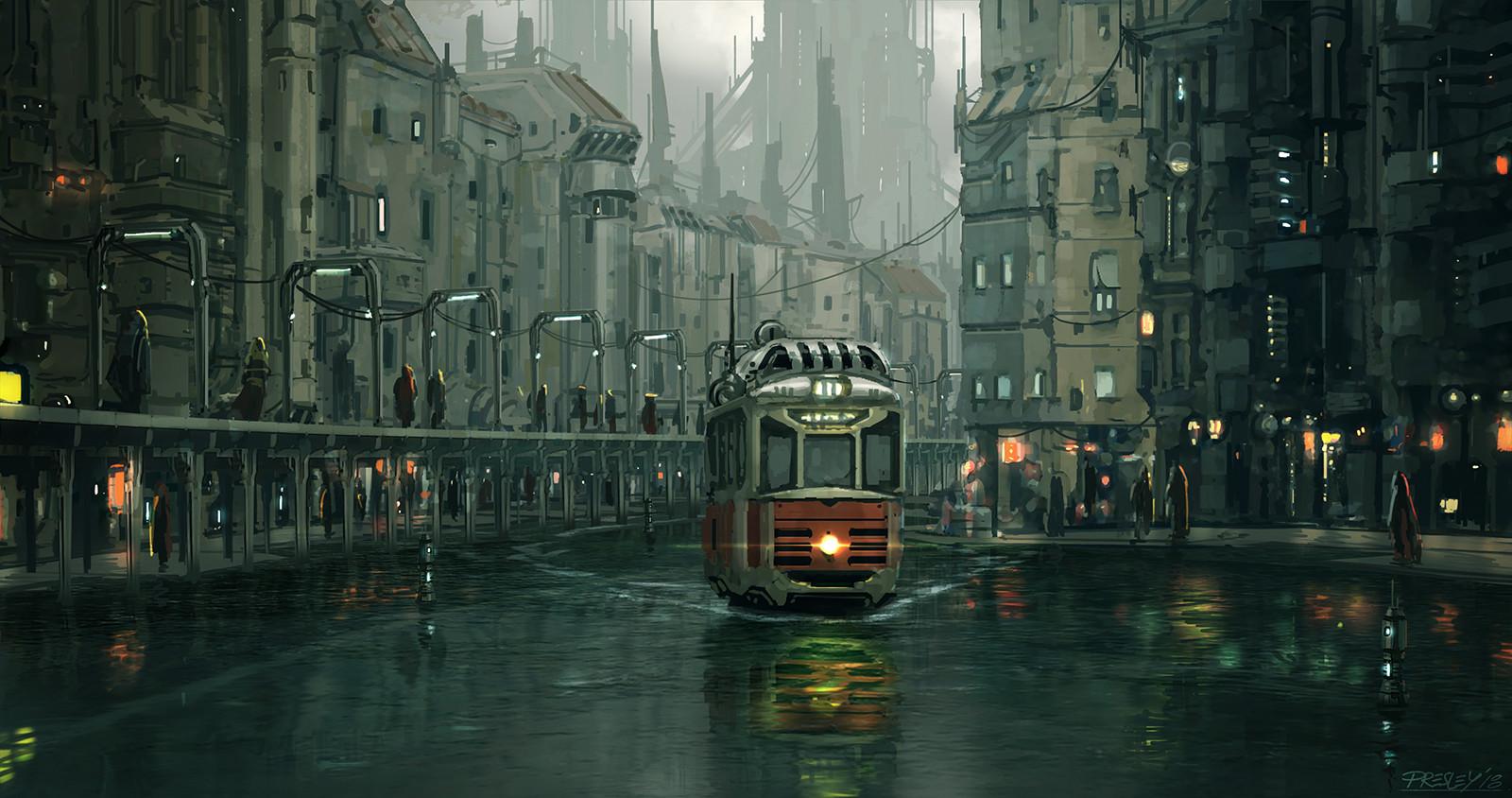 Pat presley berlin floodcity sketch repaint wip01a the f line